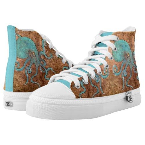 Release the Kraken! High-Top Sneakers