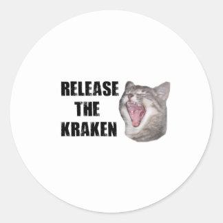 Release the Kraken! Round Sticker