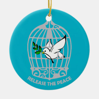 Release the Peace Dove Christmas Ornaments