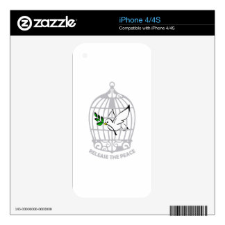 Release the Peace Dove Decal For The iPhone 4S