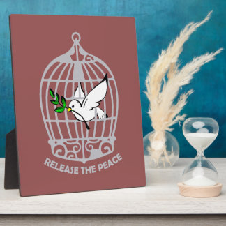 Release the Peace Dove Display Plaques
