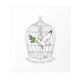 Release the Peace Dove Memo Notepads