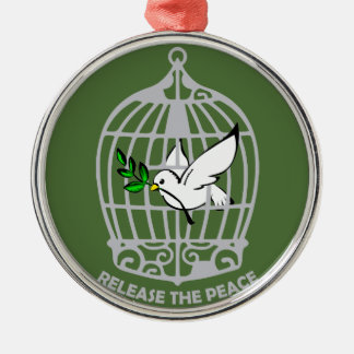 Release the Peace Dove Metal Ornament
