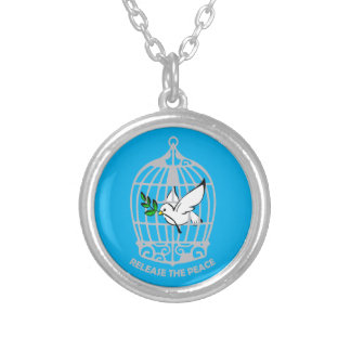 Release the Peace Dove Personalized Necklace