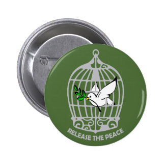 Release the Peace Dove Pinback Buttons