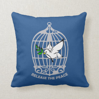 "Release the Peace Polyester Throw Pillow 16"" x 16"""