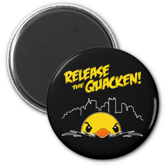 Release The Quacken 2 Inch Round Magnet