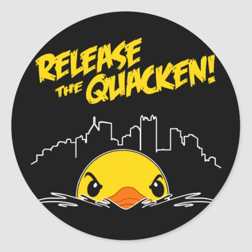 Release The Quacken Classic Round Sticker