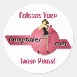 Release Your, Inner Puma! Round Sticker