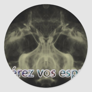 release your spirits classic round sticker