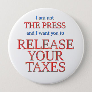 Release your taxes pinback button