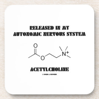 Released In Autonomic Nervous System Acetylcholine Beverage Coaster