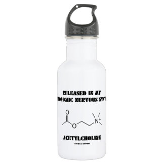 Released In Autonomic Nervous System Acetylcholine Water Bottle