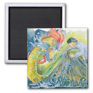 Releasing the Dragon 2 Inch Square Magnet
