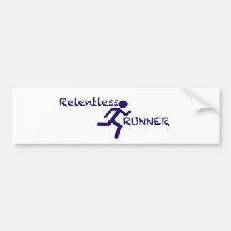 Relentless Runner Bumper Sticker