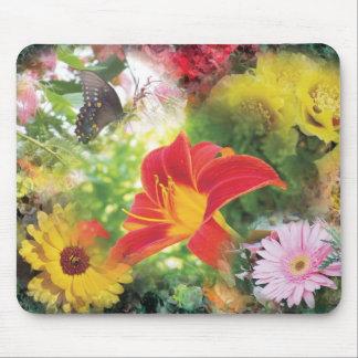 relevo 2012 de la flor alfombrilla de ratones