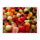 relevo de la ensalada de fruta tarjeta