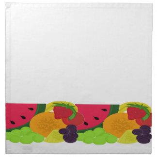Relevo de la fruta servilletas de papel