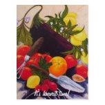 Relevo de las frutas y de las verduras postal