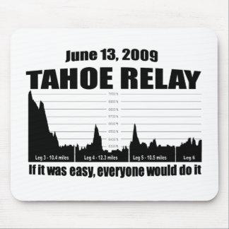 Relevo del lago Tahoe Tapete De Ratón