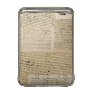 Relevo del manuscrito de Beethoven Funda Para Macbook Air