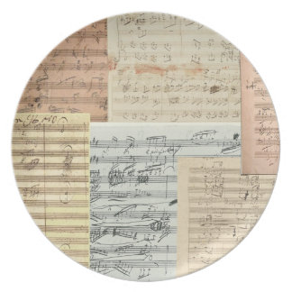 Relevo del manuscrito de Beethoven primer Platos