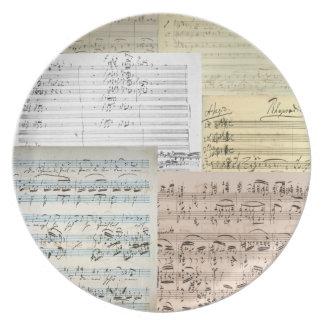 Relevo del manuscrito de Brahms Platos