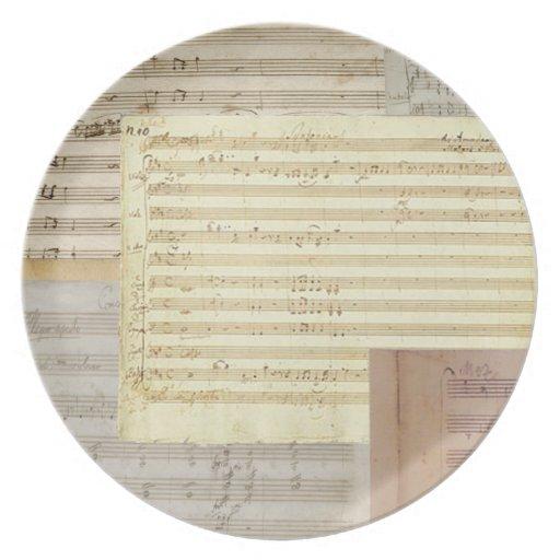 Relevo del manuscrito de Mozart Plato