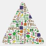 Relevo del mercado del granjero calcomanía trianguladas personalizadas