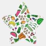 Relevo del mercado del granjero pegatina en forma de estrella
