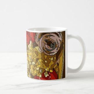 Relevo vegetal espléndido de los tomates de las taza de café