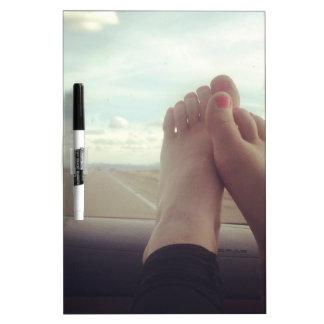 relex feet on the dashboard Dry-Erase board