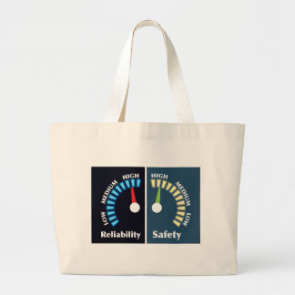Reliability and Safety Gauges Large Tote Bag