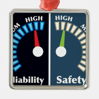 Reliability and Safety Gauges Metal Ornament