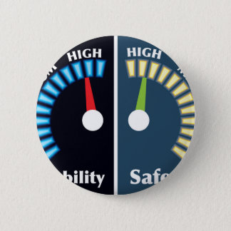 Reliability and Safety Gauges Pinback Button