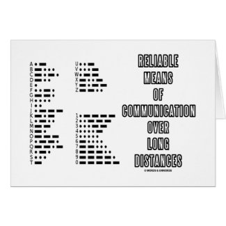 Reliable Means Of Communication Over Long Distance Greeting Card