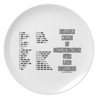 Reliable Means Of Communication Over Long Distance Party Plate