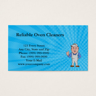 Reliable Oven Cleaners Business Card