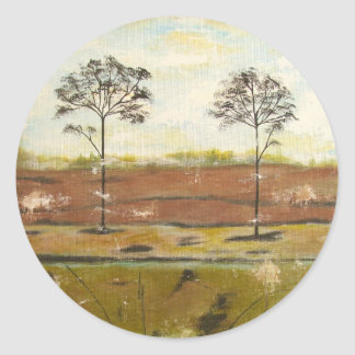 Relic Contemporary Modern Abstract Painting Classic Round Sticker