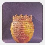 Relicario del corazón de Anne de Bretaña Pegatina Cuadrada