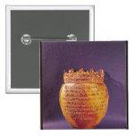 Relicario del corazón de Anne de Bretaña Pin Cuadrada 5 Cm