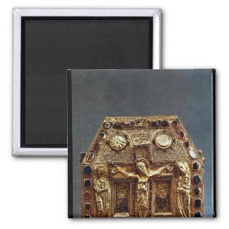 Relicario del rey de Pepin I de Aquitania Imán Cuadrado