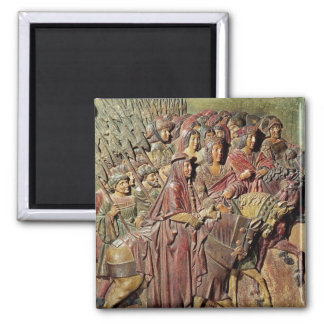 Relief 2 Inch Square Magnet