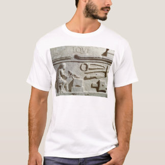 Relief depicting a blacksmith's shop and tools T-Shirt