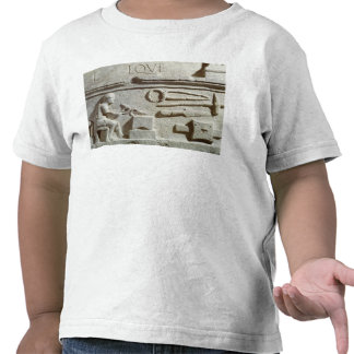 Relief depicting a blacksmith's shop and tools t-shirts