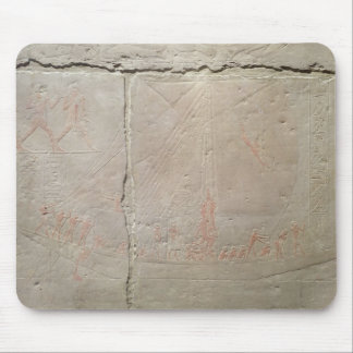 Relief depicting a boat journey mouse pad