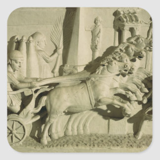 Relief depicting a chariot race square sticker