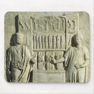 Relief depicting a cutlery shop mouse pad