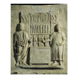 Relief depicting a cutlery shop poster