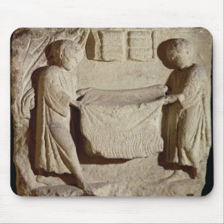Relief depicting a draper in his shop mouse pad